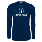 Under Armour Navy Long Sleeve Tech Tee-Bushnell Athletic Mark
