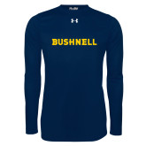 Under Armour Navy Long Sleeve Tech Tee-Bushnell Athletics Wordmark