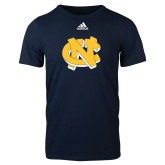Adidas Navy Logo T Shirt-NC Interlocking