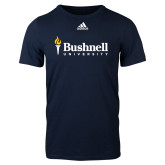 Adidas Navy Logo T Shirt-Bushnell University Primary Mark