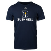 Adidas Navy Logo T Shirt-Bushnell Athletic Mark