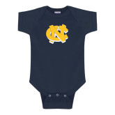 Navy Infant Onesie-NC Interlocking