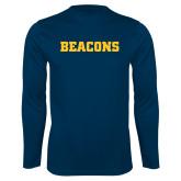 Performance Navy Longsleeve Shirt-Beacons