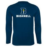 Performance Navy Longsleeve Shirt-Bushnell Athletic Mark