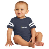 Vintage Navy Jersey Onesie-Bushnell University Primary Mark