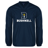 V Neck Navy Raglan Windshirt-Bushnell Athletic Mark