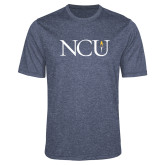 Performance Navy Heather Contender Tee-NCU Logo