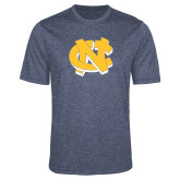Performance Navy Heather Contender Tee-NC Interlocking