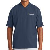 New Era Navy Cage Short Sleeve 1/4 Zip-Bushnell University Primary Mark