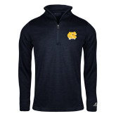 Russell Navy Heather 1/4 Zip-NC Interlocking