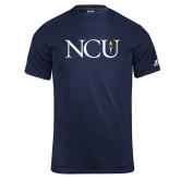 Russell Core Performance Navy Tee-NCU Logo
