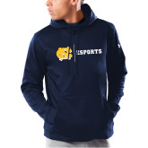 Under Armour Navy Armour Fleece Hoodie-ESports