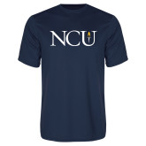 Performance Navy Tee-NCU Logo