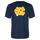 Performance Navy Tee-NC Interlocking