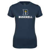 Ladies Syntrel Performance Navy Tee-Bushnell Athletic Mark