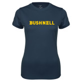 Ladies Syntrel Performance Navy Tee-Bushnell Athletics Wordmark