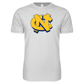 Next Level SoftStyle White T Shirt-NC Interlocking