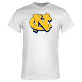 White T Shirt-NC Interlocking