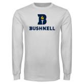 White Long Sleeve T Shirt-Bushnell Athletic Mark