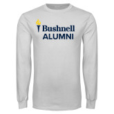White Long Sleeve T Shirt-Bushnell University Alumni