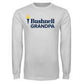 White Long Sleeve T Shirt-Bushnell University Grandpa