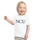 Toddler White T Shirt-NCU Logo