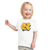 Toddler White T Shirt-NC Interlocking