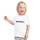 Toddler White T Shirt-Bushnell Athletics Wordmark
