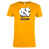 Ladies Gold T Shirt-CN Beacons