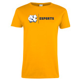 Ladies Gold T Shirt-ESports