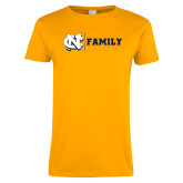 Ladies Gold T Shirt-Family