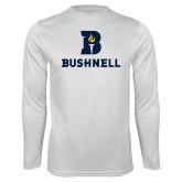 Performance White Longsleeve Shirt-Bushnell Athletic Mark