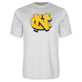 Performance White Tee-NC Interlocking