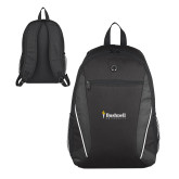 Atlas Black Computer Backpack-Bushnell University Primary Mark