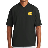 New Era Black Cage Short Sleeve 1/4 Zip-NC Interlocking