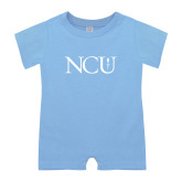 Light Blue Infant Romper-NCU Logo
