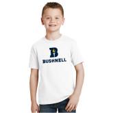 Youth White T Shirt-Bushnell Athletic Mark
