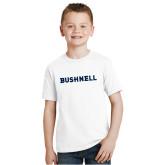 Youth White T Shirt-Bushnell Athletics Wordmark
