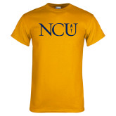 Gold T Shirt-NCU Logo