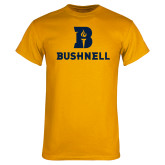 Gold T Shirt-Bushnell Athletic Mark