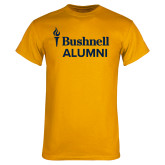Gold T Shirt-Bushnell University Alumni