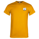 Gold T Shirt-NC Interlocking
