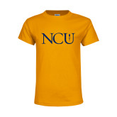 Youth Gold T Shirt-NCU Logo