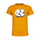 Youth Gold T Shirt-NC Interlocking