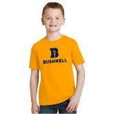Youth Gold T Shirt-Bushnell Athletic Mark