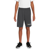 Youth Charcoal Competitor Shorts-Bushnell University Primary Mark