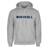 Grey Fleece Hoodie-Bushnell Athletics Wordmark