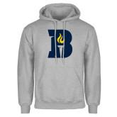 Grey Fleece Hoodie-B Icon