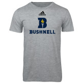 Adidas Sport Grey Logo T Shirt-Bushnell Athletic Mark