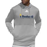 Adidas Grey Team Issue Hoodie-Bushnell University Primary Mark
